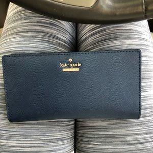 NEW navy blue Kate Spade wallet